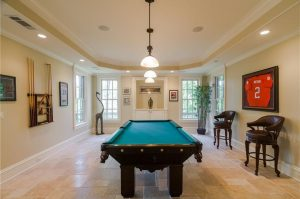 NJ new home builder finished basement pool table pt pleasant NJ Home Builder
