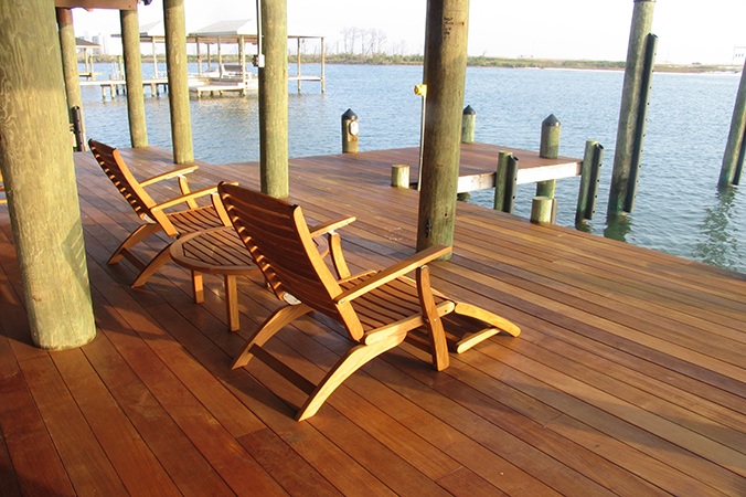 Custom deck builder NJ top deck contractor Gambrick Ipe deck waterfront