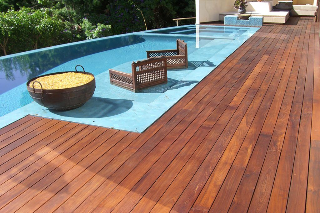Custom Ipe Pool deck NJ top deck builder local deck contractor jersey shore decks
