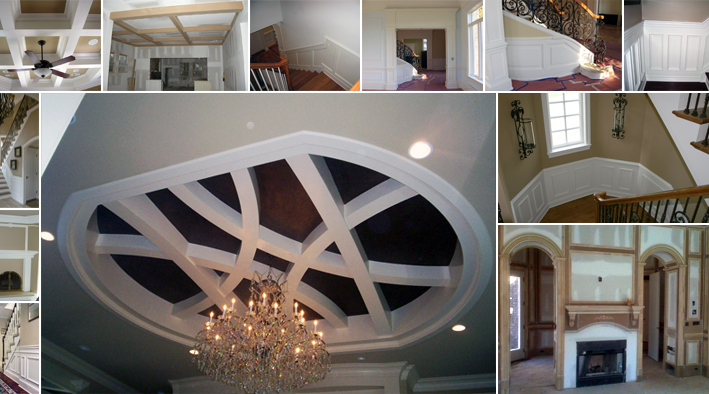 trim contractors NJ wainscoting coffered ceilings custom trim contractor New Home Builder Ocean County NJ