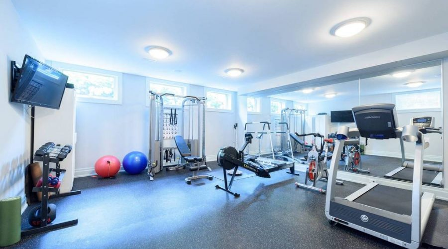 top NJ basement contractor finished basement gym NJ monmouth county NJ finished basement