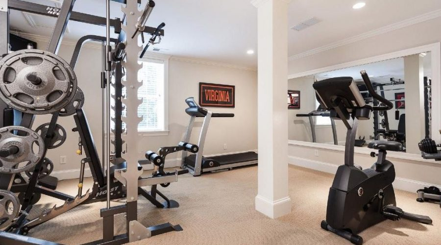 top NJ finished basement contractor finished basement gym monmouth county NJ finished basement contractor