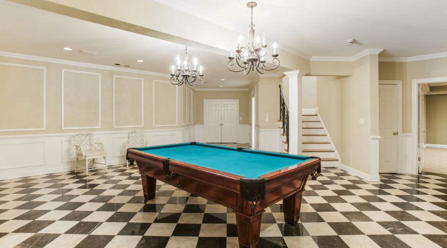 NJ Top basement contractor finished basements NJ pool table finished basement billiards Room NJ