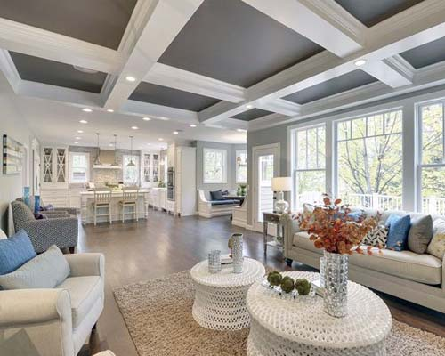 coffered ceilings - NJ Top new home builder