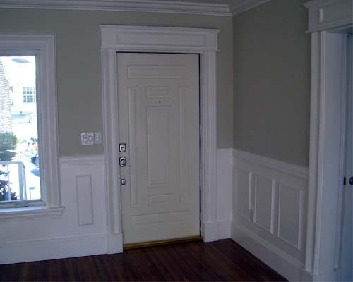 wainscoting, window and door trim. Luxury home builder NJ