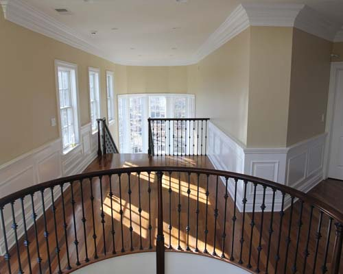 wainscoting and crown molding - home builder jersey shore