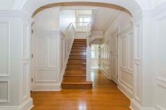 hall wainscoting with arches