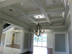 custom trim adds value to a home coffered ceiling