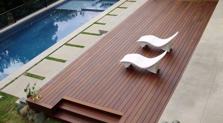 Ipe Pool Deck NJ Top NJ Deck Builder Monmouth County NJ Rumson Deck Builder