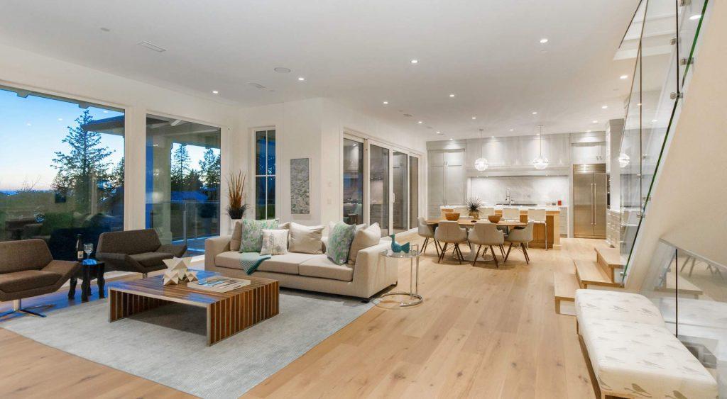 open modern floorplan custom modern home design gambrick custom home builder NJ