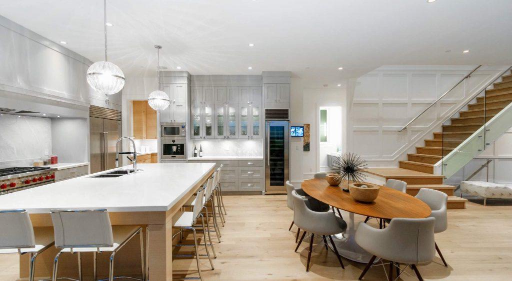 open floor plan modern home design gambrick custom home builder NJ