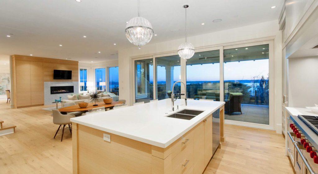 open floor plan modern home design gambrick custom home builder point pleasant nj