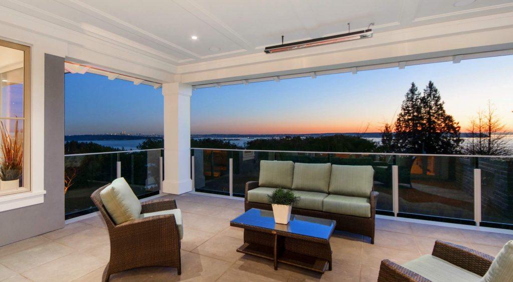 indoor outdoor modern living spaces modern home design gambrick custom home builder NJ