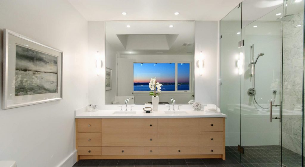 modern bathroom design contemporary bathroom Gambrick custom home builder NJ Jersey Shore new home builder