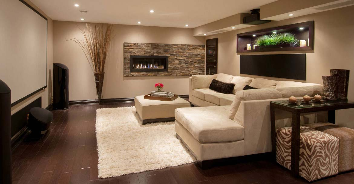 flex room ideas - entertainment room - Top New Home Builder Gambrick