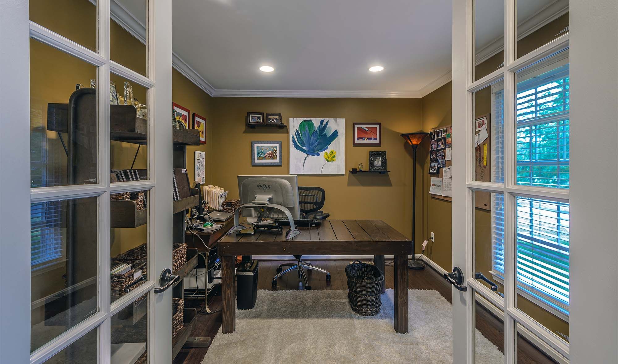 flex room doors white french glass doors with grills brushed nickel hardware home office