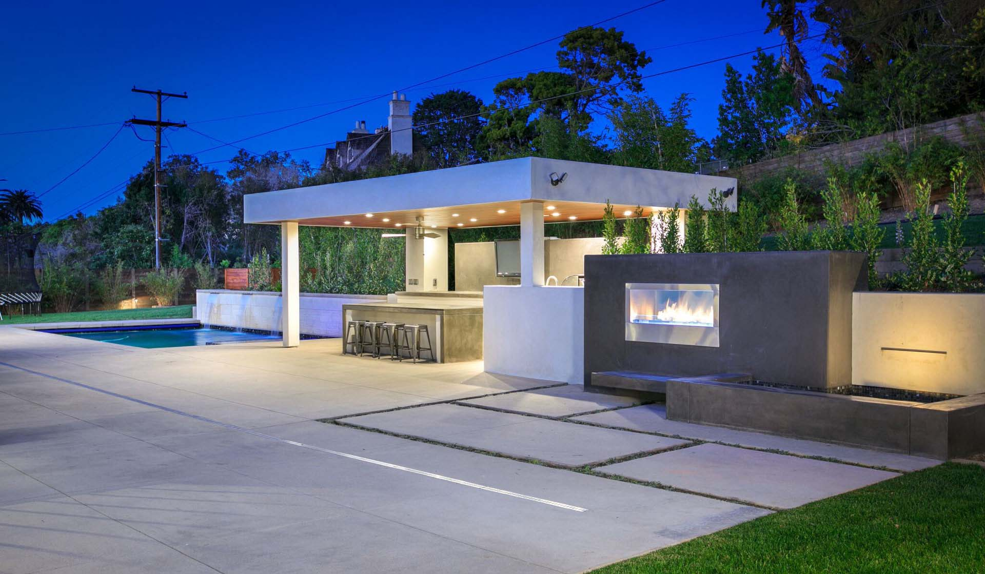 outdoor kitchen ideas modern outdoor kitchen with fireplace contemporary style