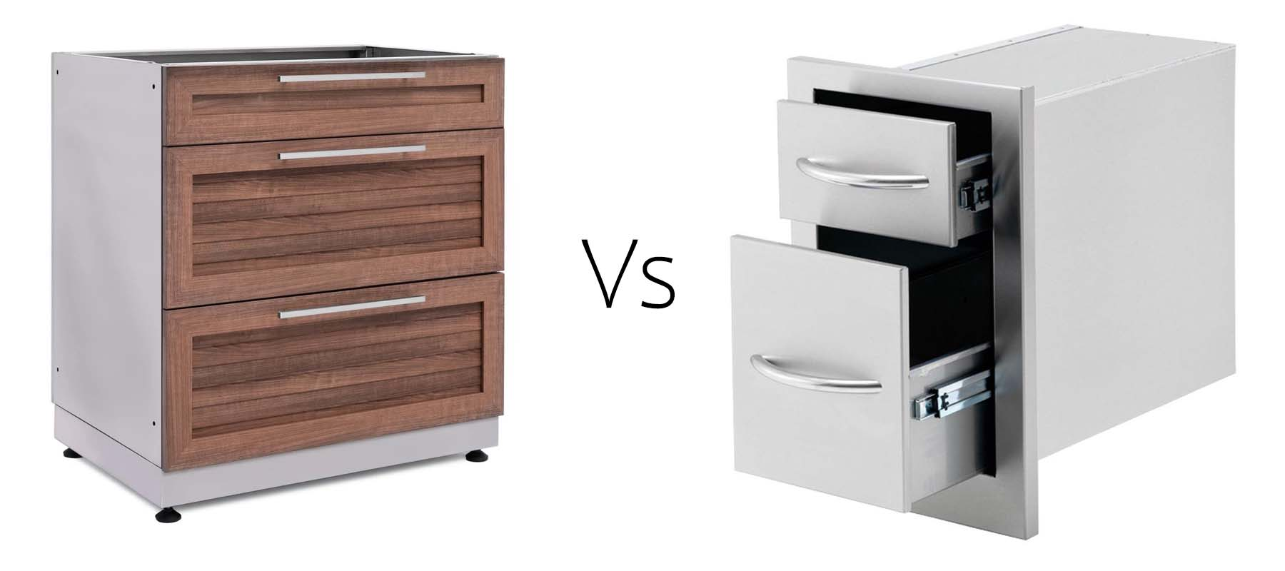 outdoor kitchen cabinet type comparison chart