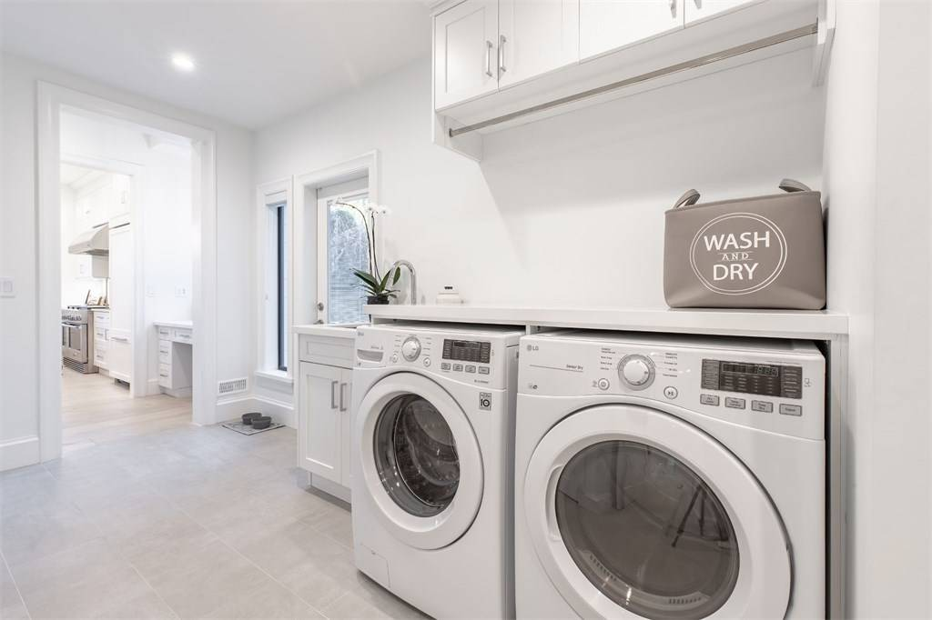 all white room ideas 2019 all white laundry room theme Gambrick Home Builders NJ