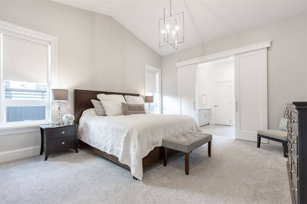 best white room ideas for 2019 all white master bedroom from Gambrick top luxury home builder NJ