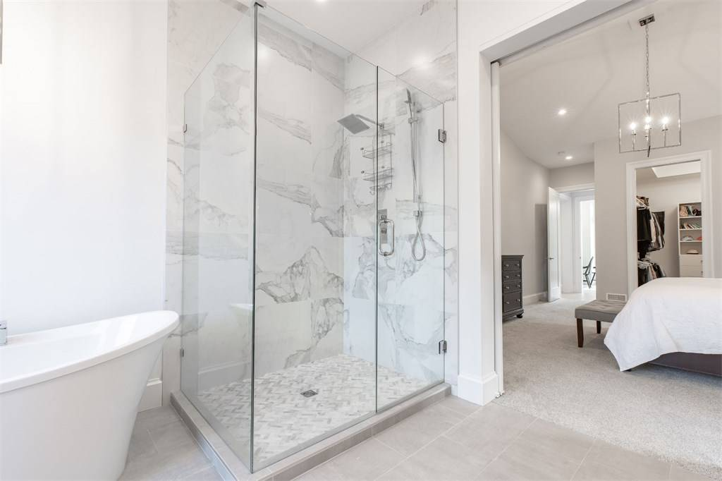 white room ideas custom glass shower marble shower tile