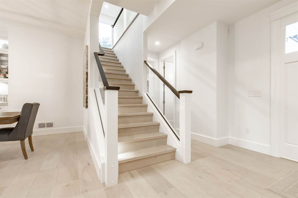 all white room ideas white stairs Gambrick Home Builders NJ