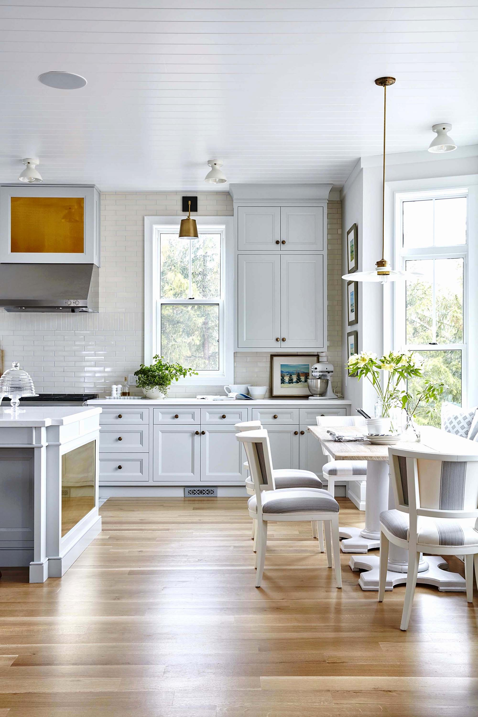 white room ideas all white kitchen white cabinets and countertop Gambrick Luxury Home Builder NJ