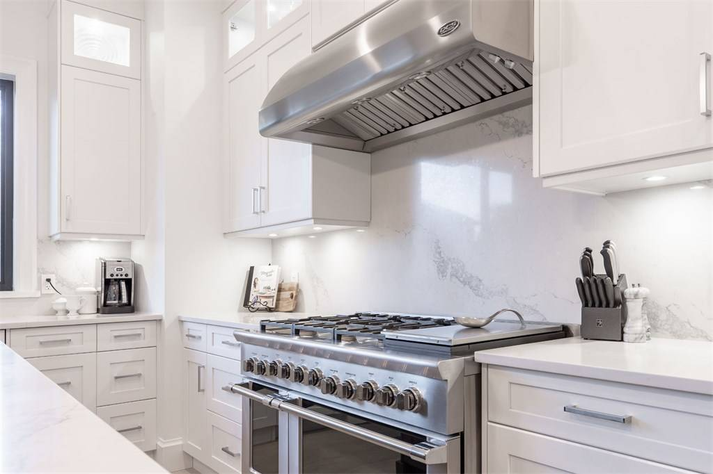 all white kitchen stainless steel appliances white room ideas 2019 Gambrick Construction