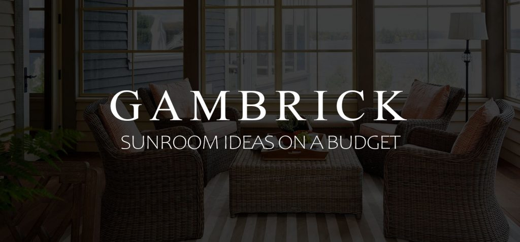 Sunroom ideas on a budget banner picture