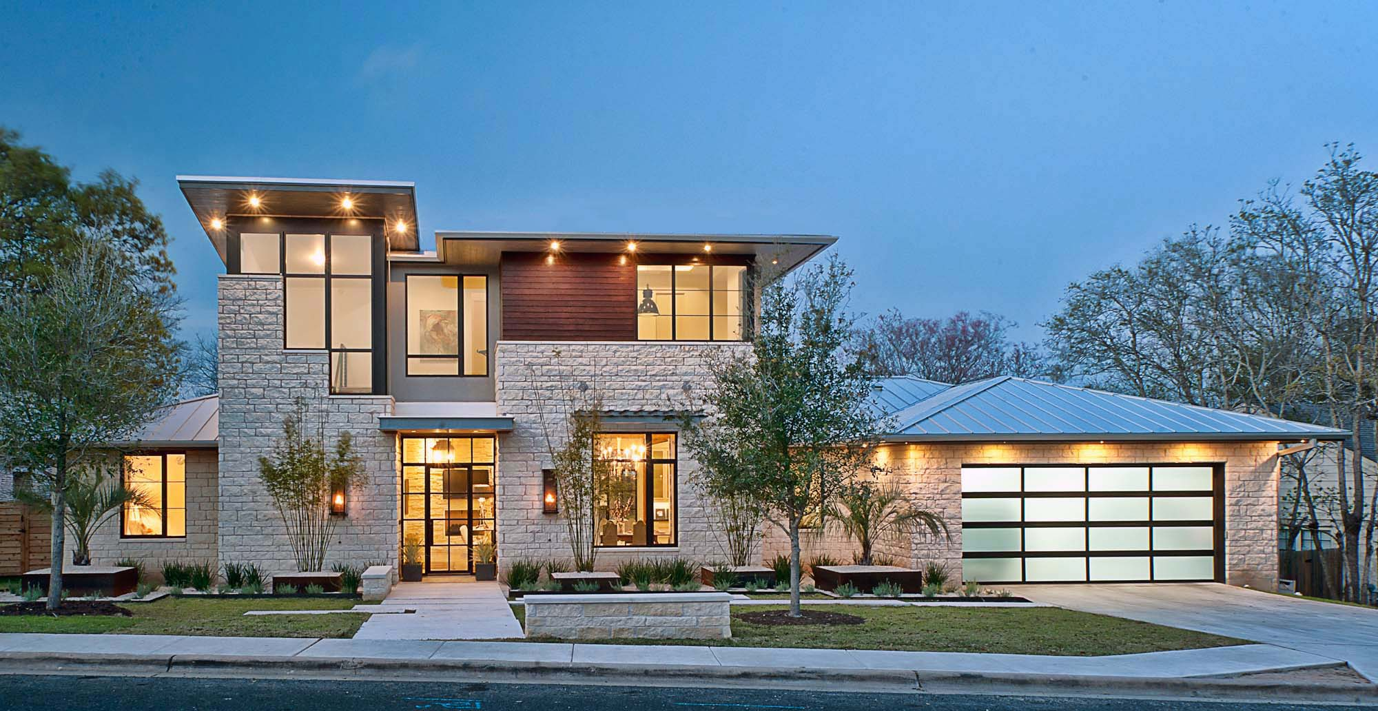 Stone And Stucco Modern Home Designs   Gambrick