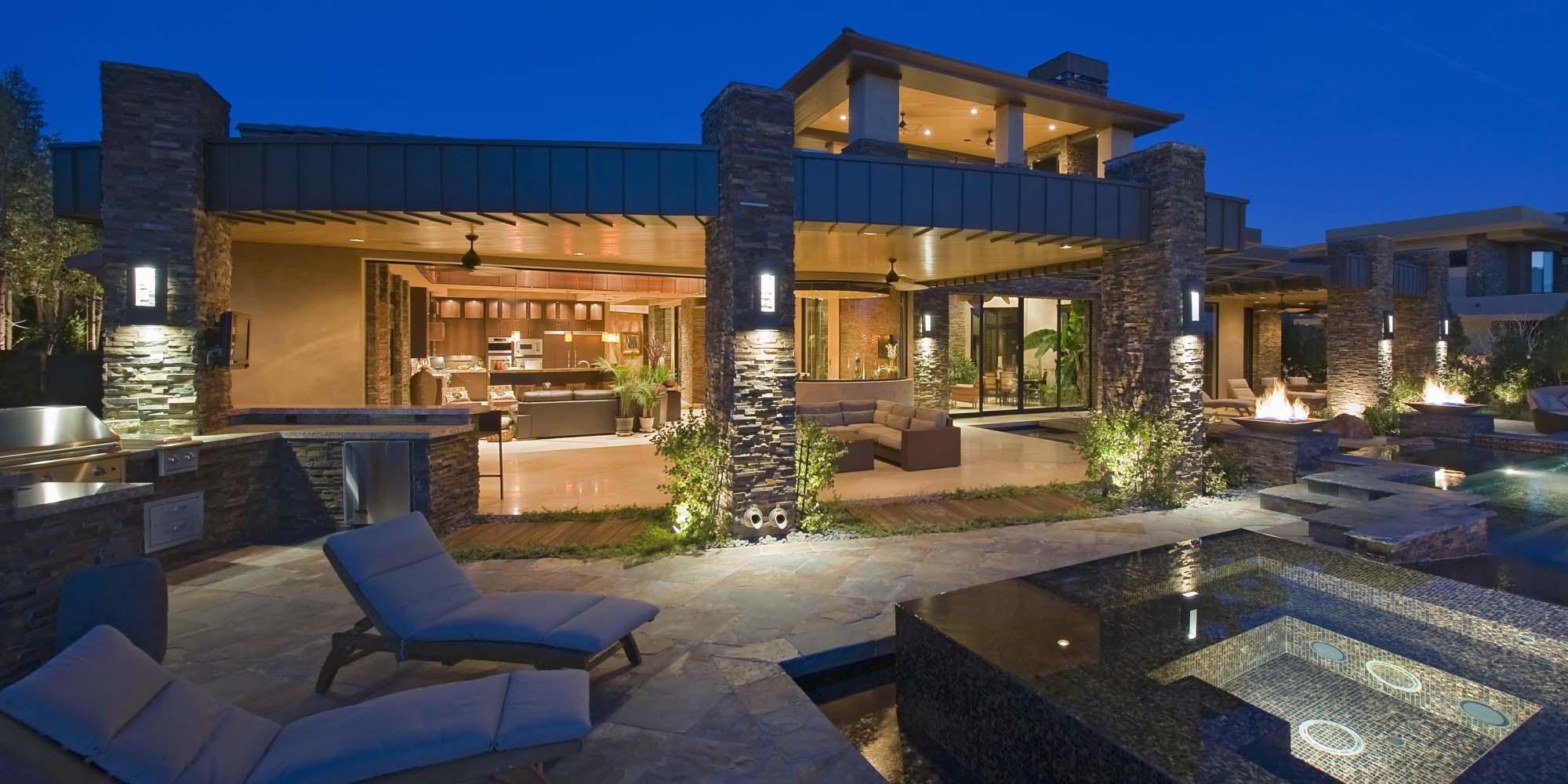 modern home design indoor outdoor living - Gambrick