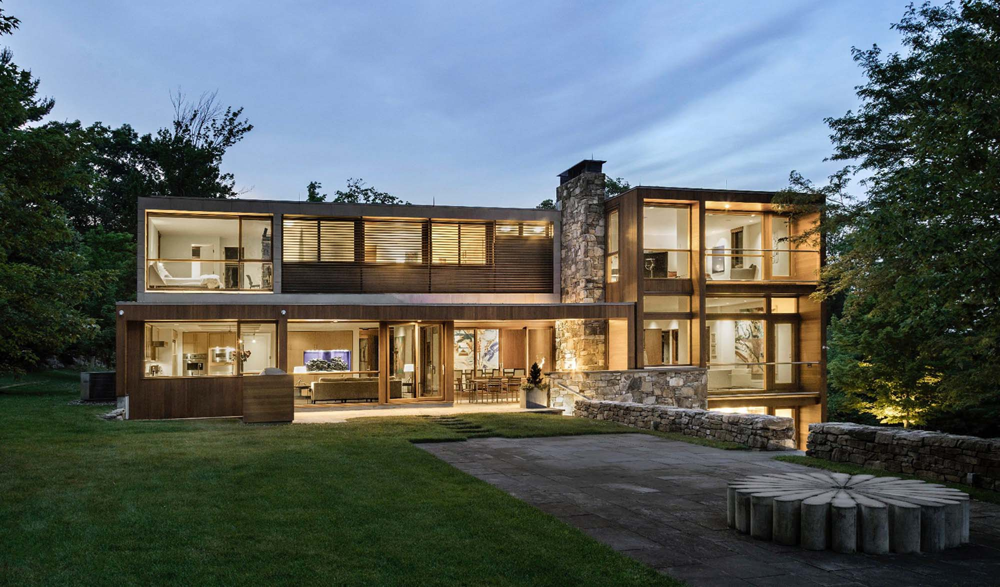 symmetrical design ipe natural material modern home design ideas - Gambrick