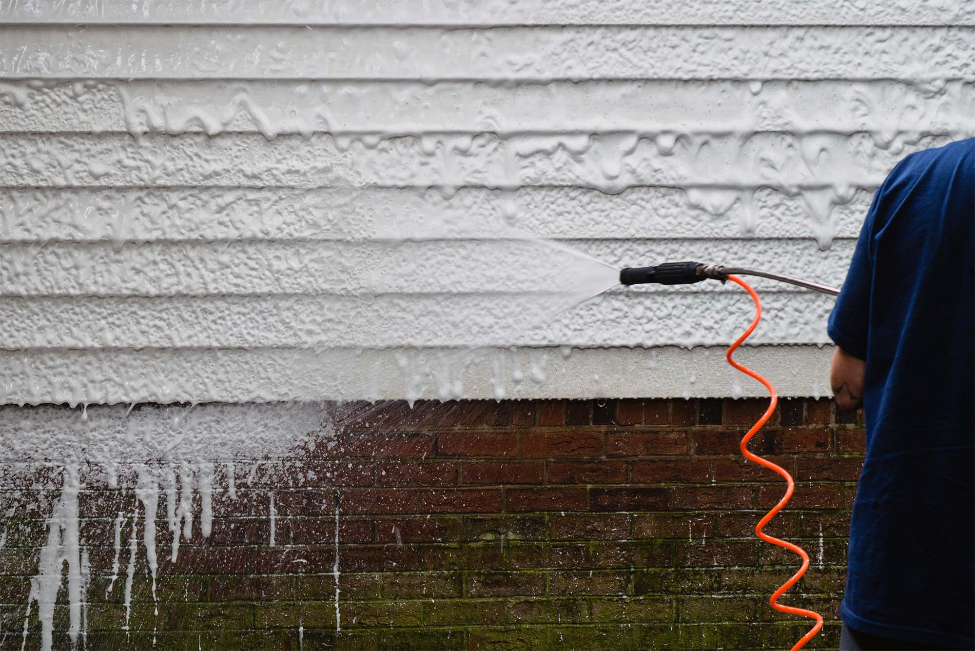 how to maintain fiber cement siding power washing Hardie siding