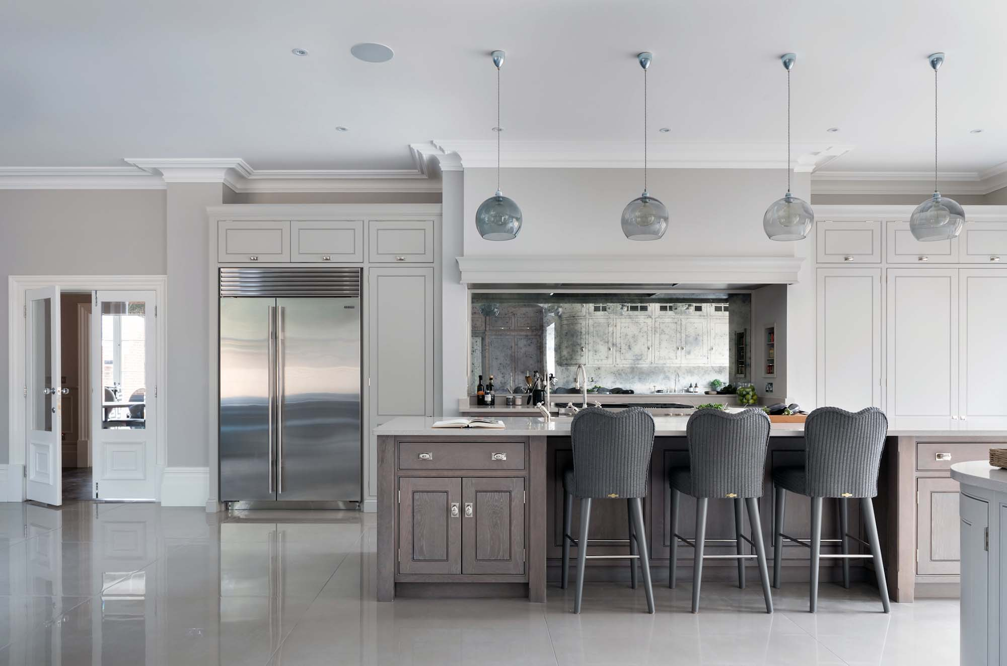 luxury kitchen design ideas gray and white luxury kitchen Gambrick luxury home builder NJ