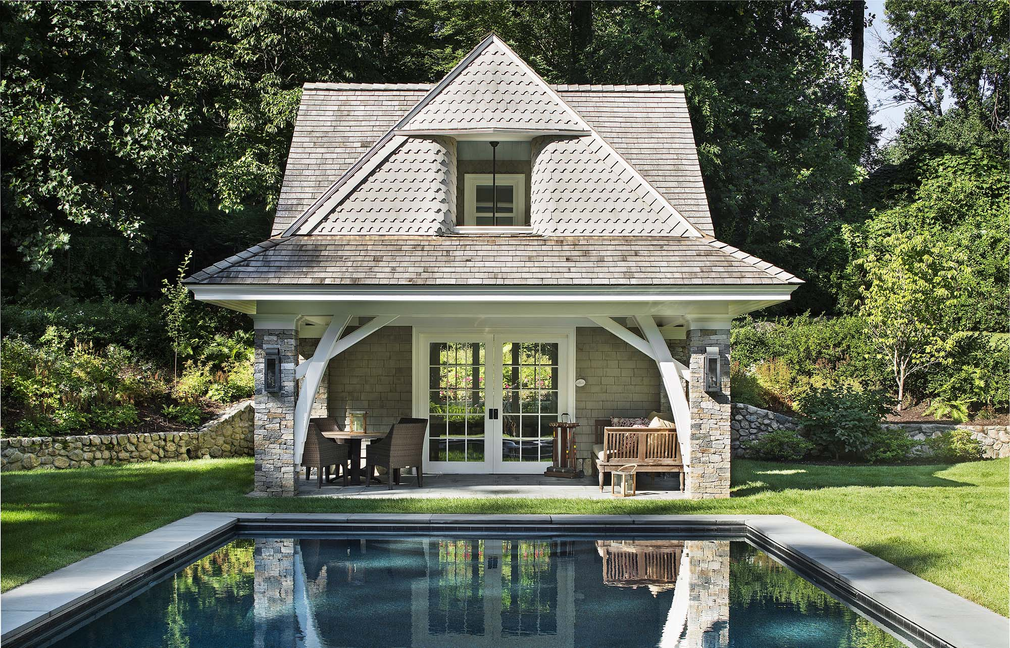 best pool house designs country pool house style - Gambrick