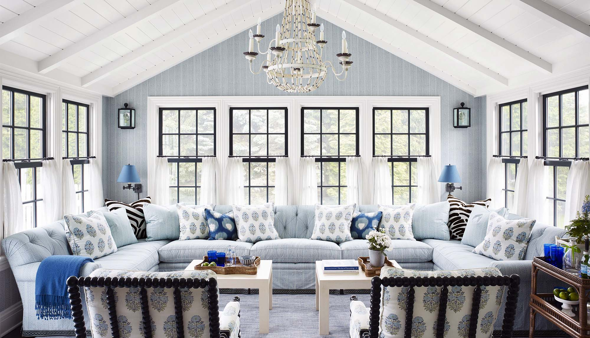 sunroom builder in NJ beautiful sinroom vaulted ceilings chandelier - Gambrick