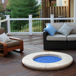 Ocean County NJ Deck Builder Custom trex deck with white rails