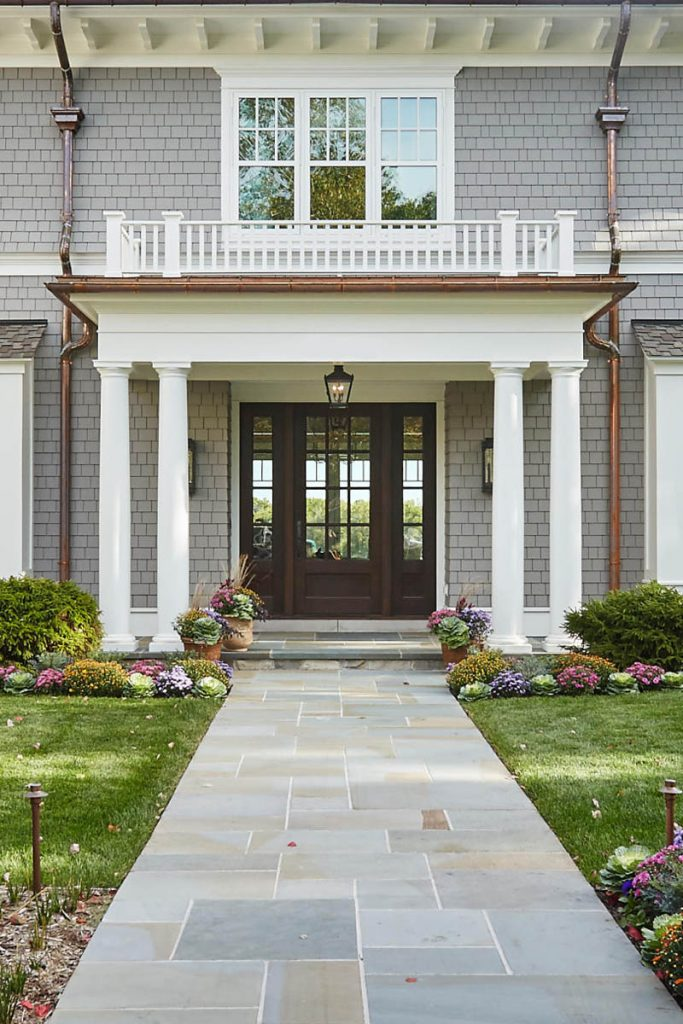 beautiful custom home entry - Gambrick