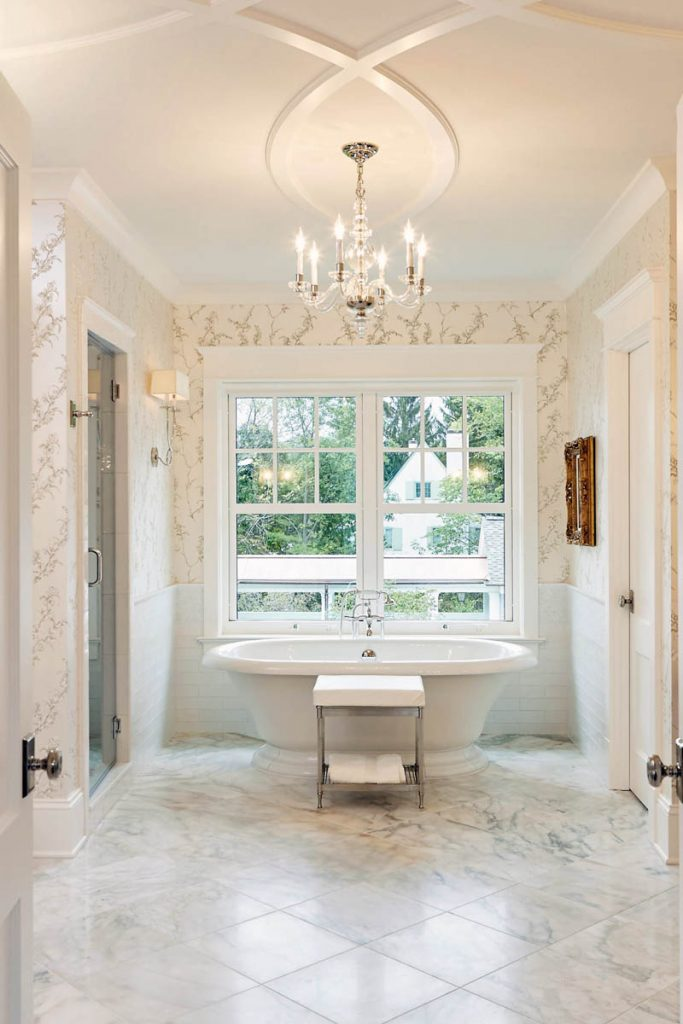 beautiful custom luxury NJ bathroom - Gambrick