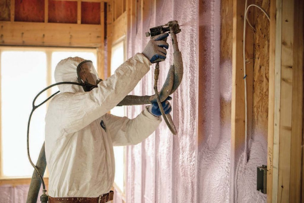 spray foam insulation installation - Gambrick