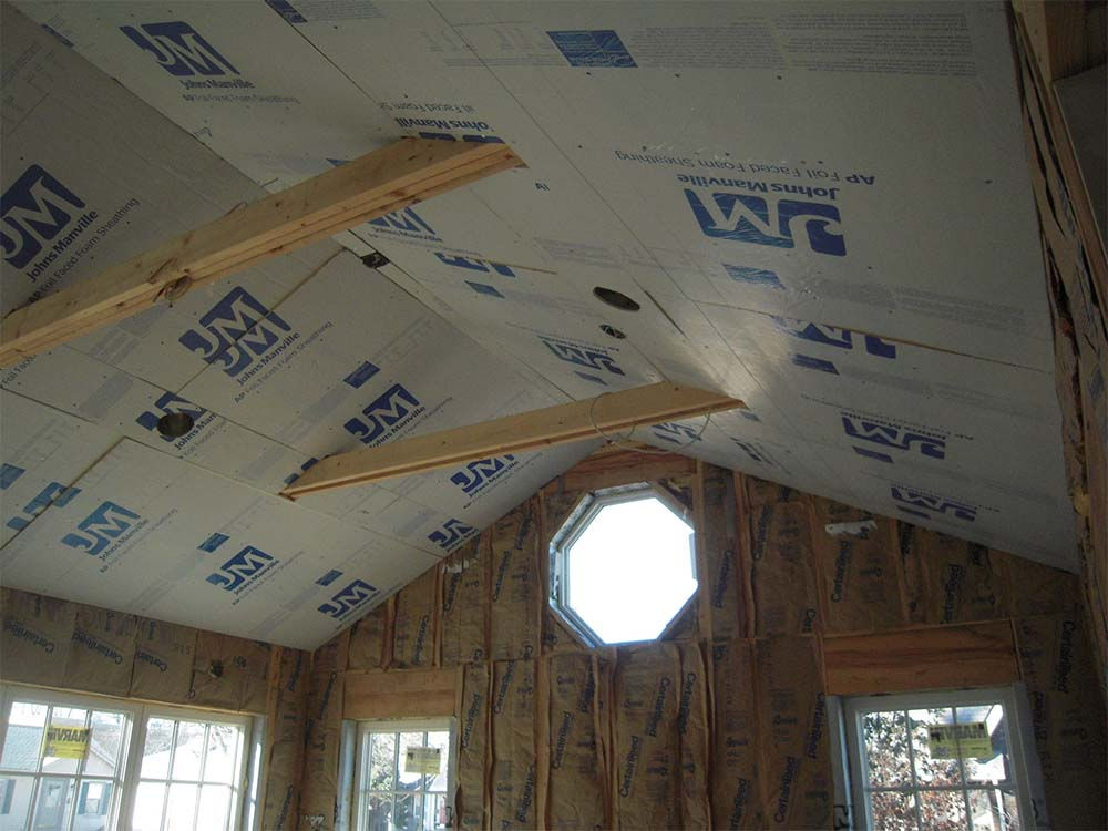 thermal bridge free construction - Passive House Standards - rigid foam insulation thermal break - Gambrick