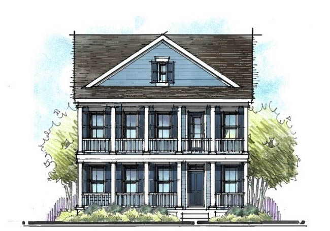 low country home architects drawing