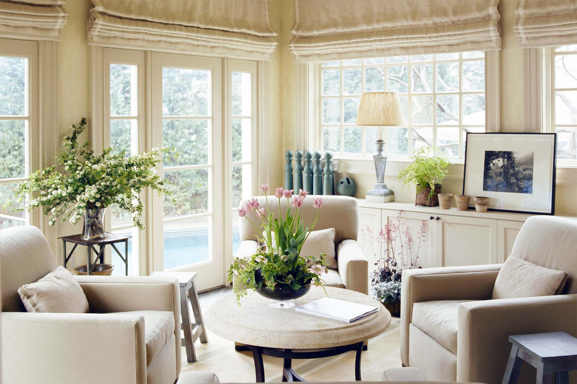 cream theme custom sunroom cream plush chairs and rug nj custom sunroom builder Gambrick