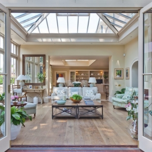 custom glass sunroom ceiling with folding doors wood floors beautiful design sunroom builder nj
