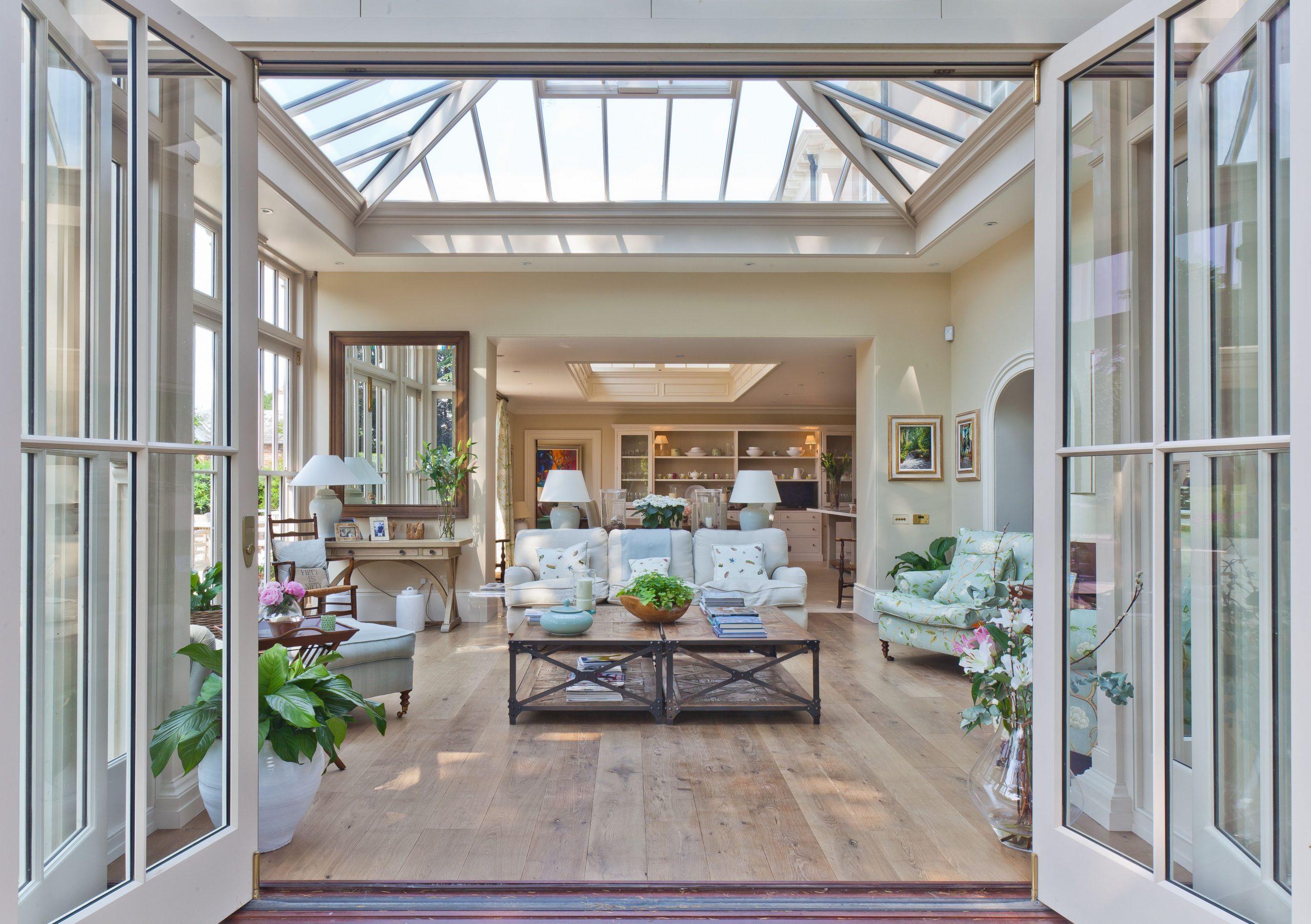 custom glass sunroom ceiling with folding doors wood floors beautiful design sunroom builder nj