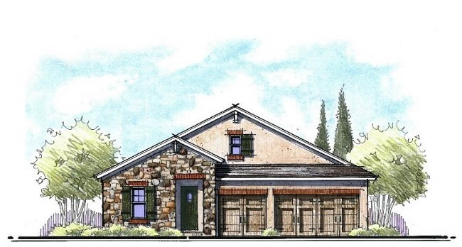 tuscan home architects drawing