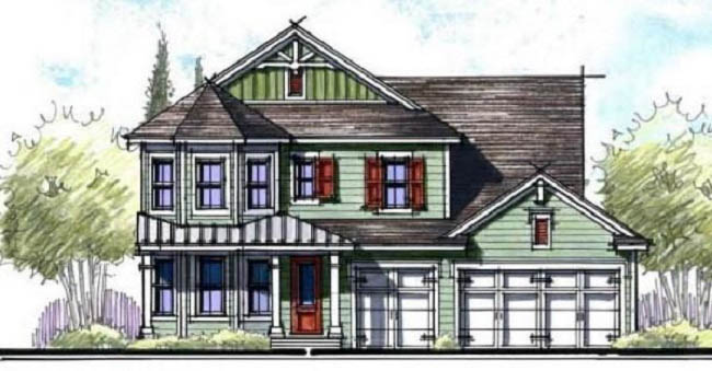 victorian style home architects drawing