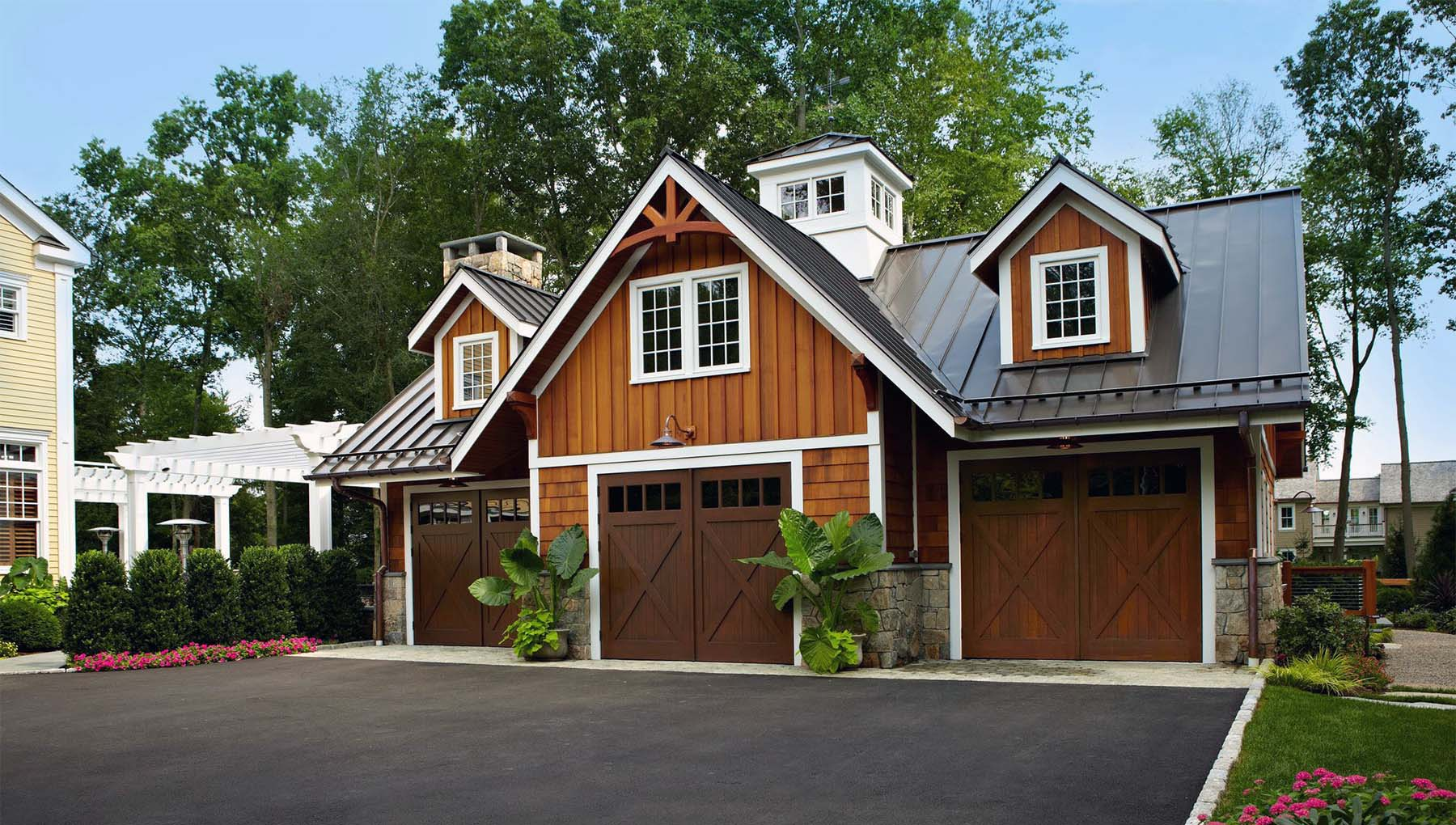 3 car detached garage designs with living space