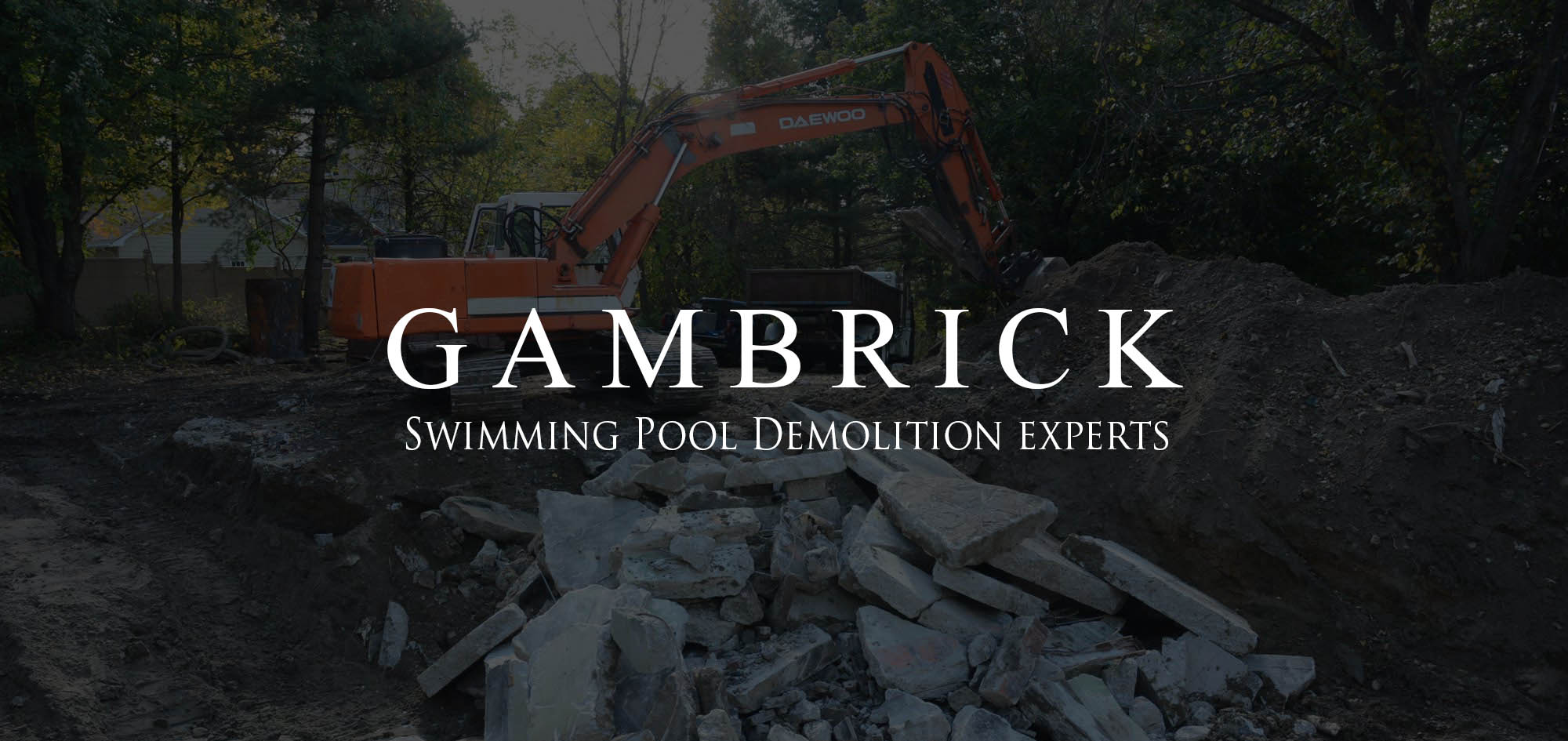 swimming pool removal NJ removing a concrete in ground swimming pool - Gambrick