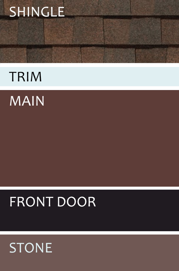 small brown siding color chart